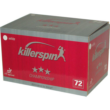 Killerspin Champion 3 Star Balls - Pack of 72