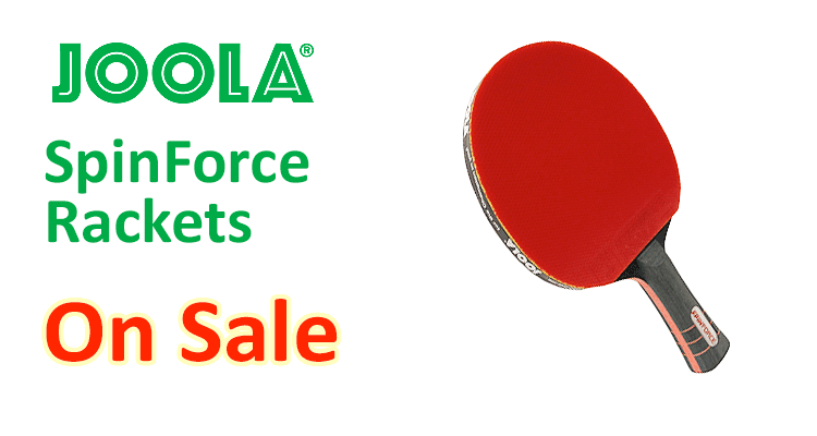 JOOLA Spinforce Rackets