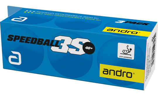 Andro Speedball 3S 3-Star ABS Balls - Pack of 3