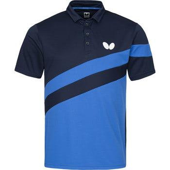 Butterfly Kisa Shirt Azure Blue Megaspin Net