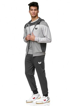 Butterfly Mito Tracksuit Jacket - Grey