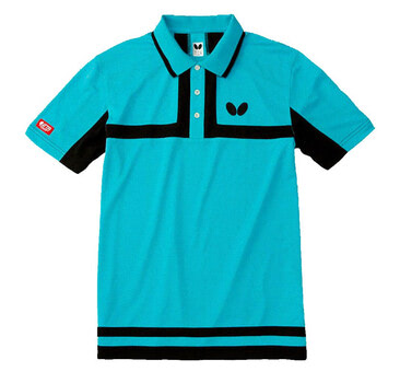 Butterfly Poltieh Shirt - Aqua Blue