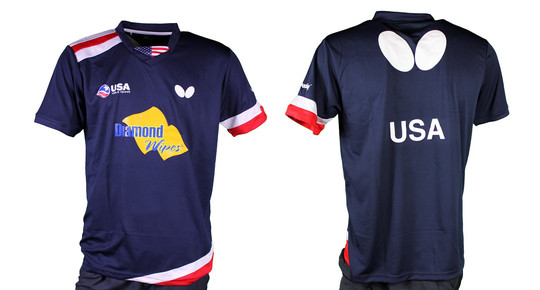 Butterfly USA Team 2019 - Men's Shirt - Navy