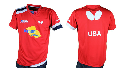 Butterfly USA Team 2019 - Men's Shirt - Red