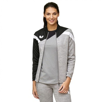 Butterfly Yao Lady Tracksuit Jacket - Black