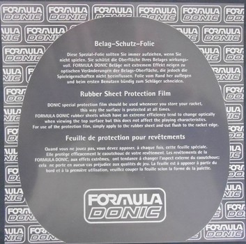 Donic Formula Rubber Protection Film