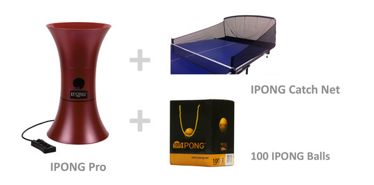 IPONG Pro Bundle - with Catch Net and 100 Balls