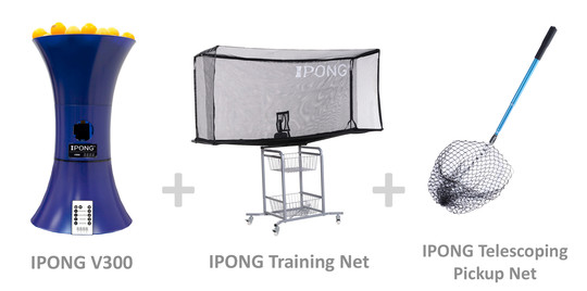 IPONG V300 Bundle - with Training Net and Pickup Net