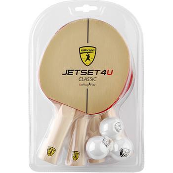 Killerspin Jet Set Classic 4u 4 Racket Set Megaspin Net