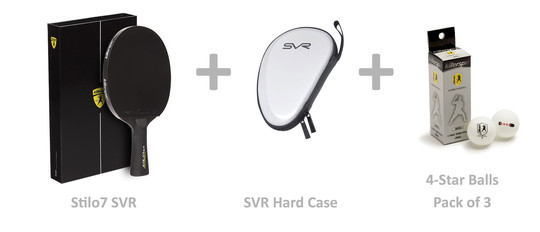 Killerspin Stilo7 SVR Bundle - w/Hard Case and Balls