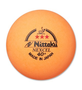 Nittaku 3-Star Nexcel 40+ Orange Balls - Pack of 3