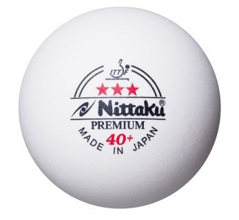 Nittaku 3-Star Premium 40+ Poly Ball - Pack of 12