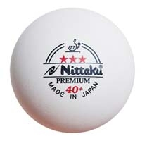 Nittaku 3-Star Premium 40+ Poly Ball - Pack of 3